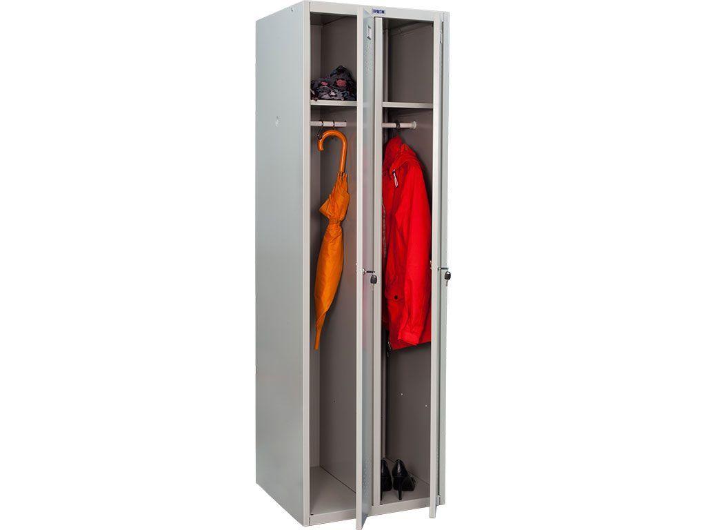 Металлический шкаф для одежды ПРАКТИК LS-21