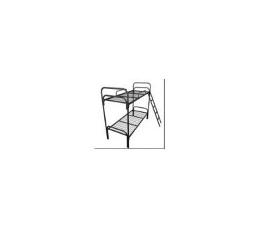 МК-2, Металлическая кровать двухъярусная с лестницей и ограждением, кровать для гостиниц и общежитий