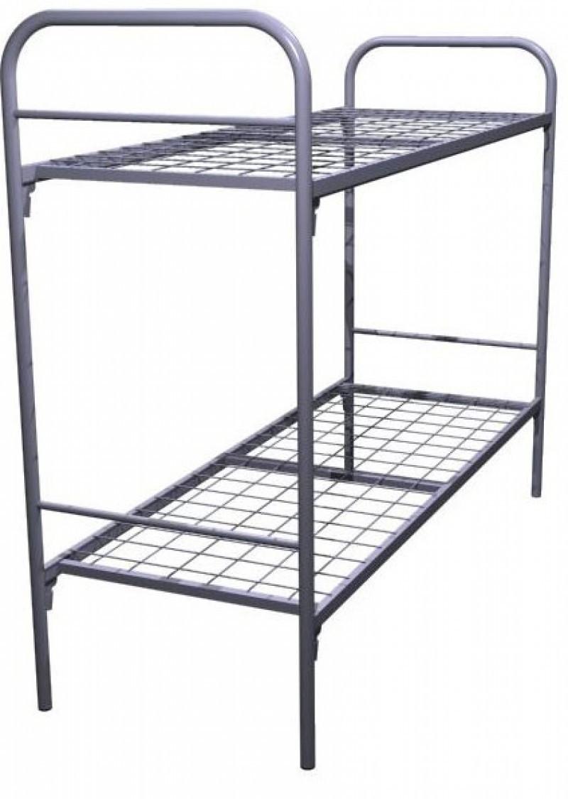 КО-2, кровать металлическая двухъярусная усиленная, кровать в общежитие и на стройку