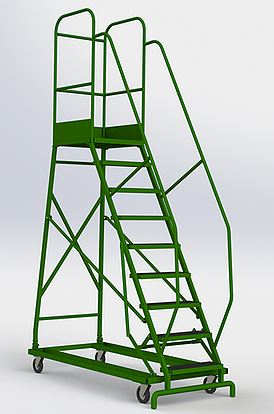 Лестница-площадка мобильная, Н-3020/2000