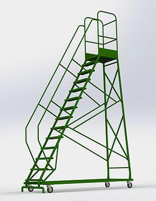 Лестница-площадка мобильная, Н-4068/3015