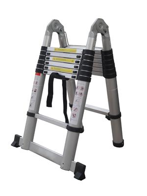 Лестница-стремянка телескопическая 1.6м/3.2м 5ступ.