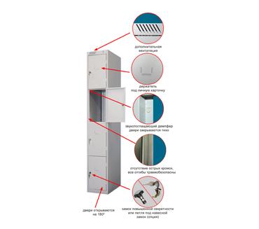 Металлический шкаф для сумок ШРС-14-300