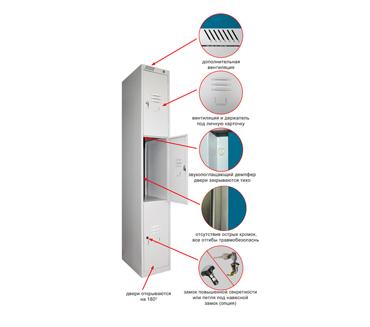 Металлический шкаф для сумок ШРС-13-300