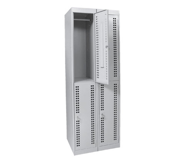 Металлический шкаф для одежды ШРК-24-600П