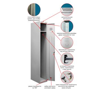 Металлический шкаф для одежды ТМ-11-300