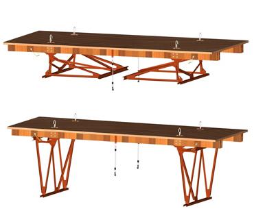 Инвентарные шарнирно-панельные подмости каменщика ПКК-1М.