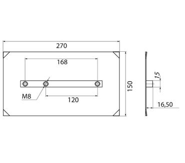 Комплект лопастей для двухроторной затирочн. маш.GROST – 150x270 мм (4шт)